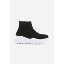 Black and White Women's Shoes Sneakers JB039-1A-98-black/white