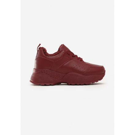 Burgundy Women's Shoes Sneakers JB033-453-w.red