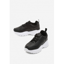 Black and White Women's Shoes Sneakers JB033-98-black/white