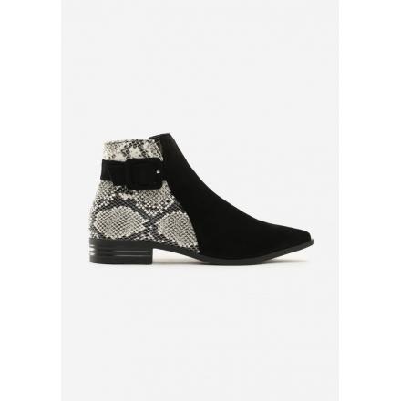Black Women's flat boots 7329-38-black