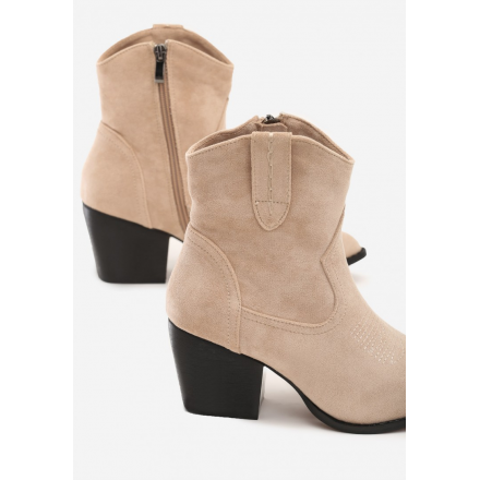 Beige Women's high heels 8494-42-beige