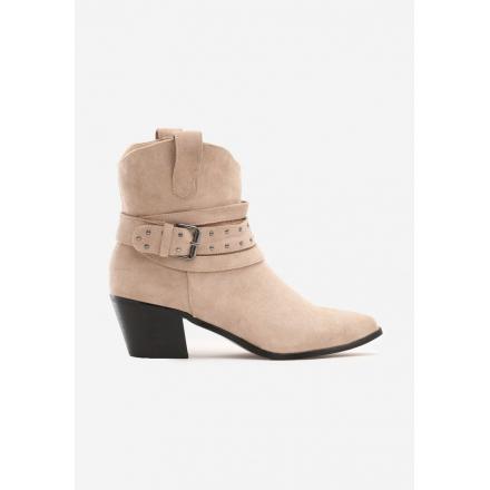 Beige Cowboy boots on high heels 8503-42-beige