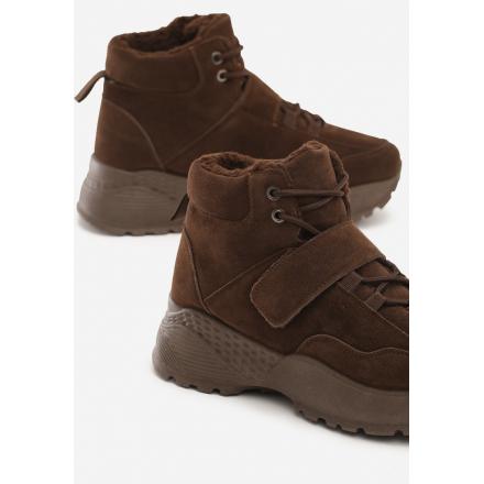 Brązowe Obuwie damskie Sneakersy JB034-54-brown