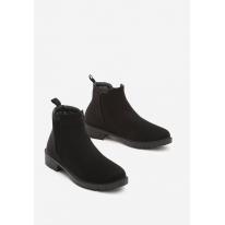 Czarne Damskie botki na płaskim JB044-38-black