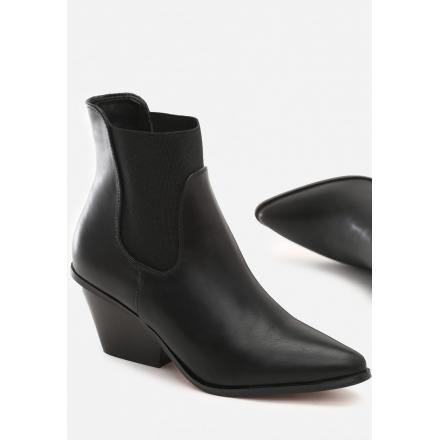 Czarne Botki damskie Kowbojki 8496-1A-38-black