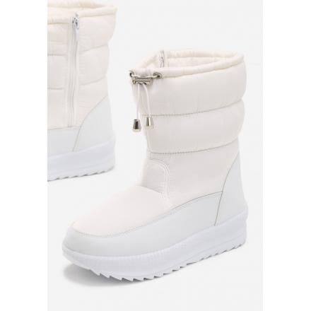 Białe obuwie damskie Śniegowce JB048-71-white