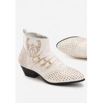 White Women's flat boots 7334-71-white