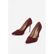 Burgundy women's high heels 3307-453-w.red