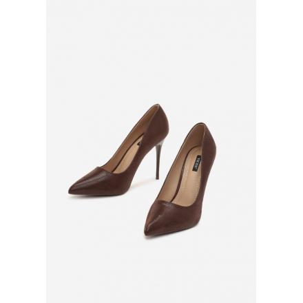 Brown women's high heels 3308-54-brown