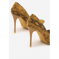 Yellow women's high heels 3309-49-yellow