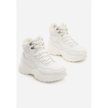 Białe Traperki JB036-71-white