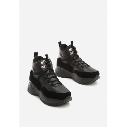 Czarne Traperki JB036-38-black