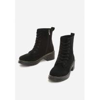 Black flat boots 8490-38-black