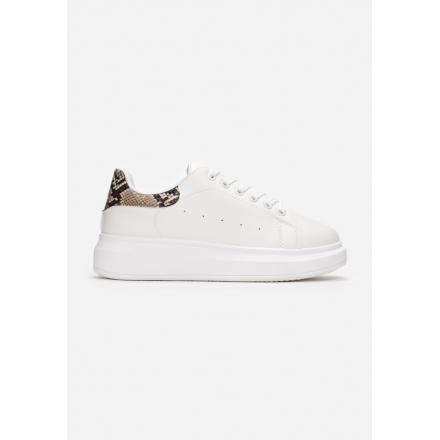 White-Brown Sneakers 8538-419-white/brown