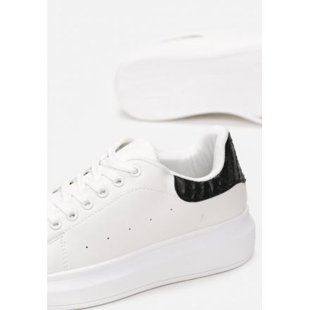 Black and white sneakers 8538-99-white/black