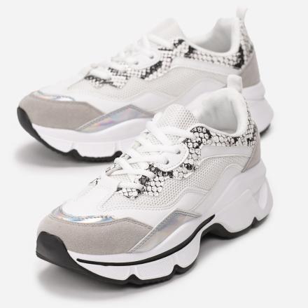 Białe Sneakersy 8536-71-white