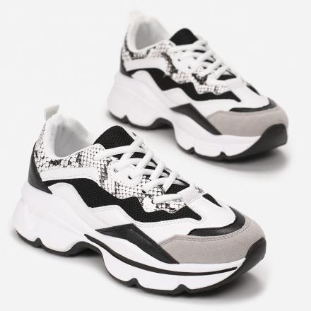 Czarne Sneakersy 8536-38-black