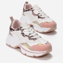 Różowe Sneakersy 8536-45-pink