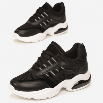 Black women's sneakers 8546-38-black