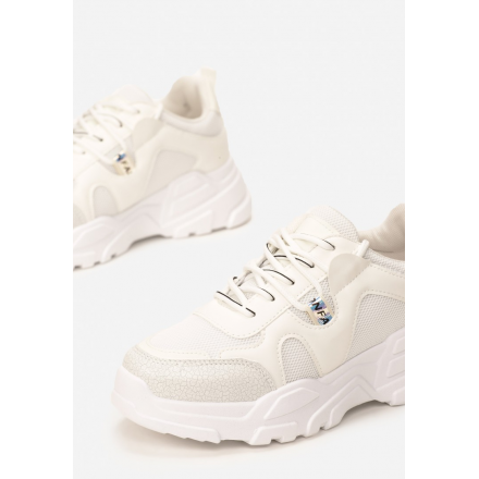 White women's sneakers 8550-71-white