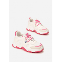 White-Fuchsia Women's Sneakers 8550-293-white/fushia