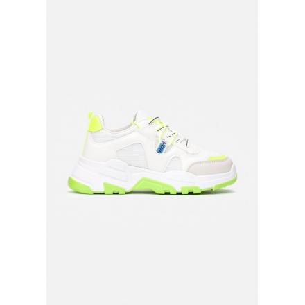 White-Green Women's Sneakers 8550-236-white/green