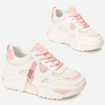 White and pink sneakers 8552-83-white/pink