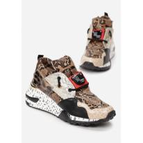 Brown women's sneakers 8475-54-brown