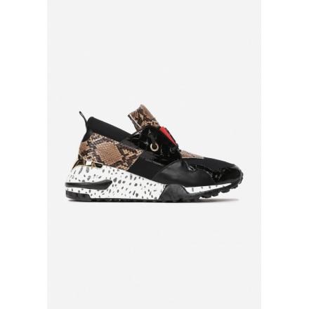 Black women's sneakers 8475-38-black