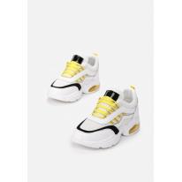 White-yellow women's sneakers 8546-233-white/yellow