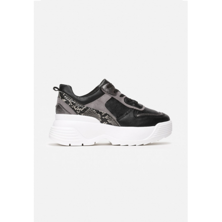 Black women's sneakers 8541-38-black