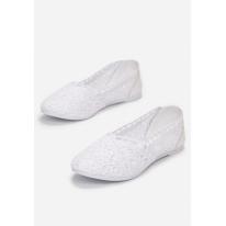 White women's ballerinas JB052-71-white