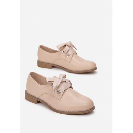 Beige women's low shoes. 7351-42-beige