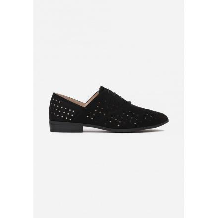 Black Openwork women's shoes 3351-38-black