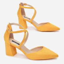 Żółte Czółenka Damskie 1594-49-yellow