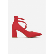 Red women's pumps 3340-64-red
