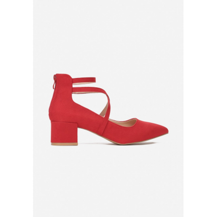 Red women's pumps 3343-64-red