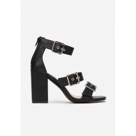 Black women's sandals on the post 1618-38-black