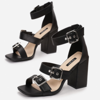 Black women's sandals on the post 1618-38-black
