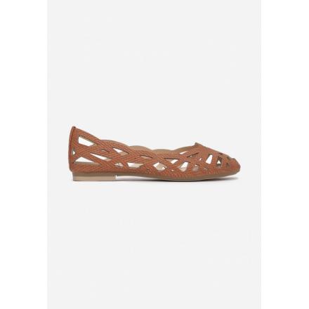 Openwork brown ballerinas 3348-54-brown