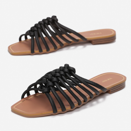 Black Women's Slippers 3353-38-black