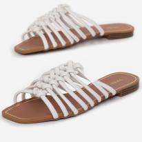White women's slippers 3353-71-white
