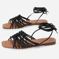 Black women's sandals 3355-38-black