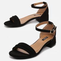 Black women's sandals 3383-38-black