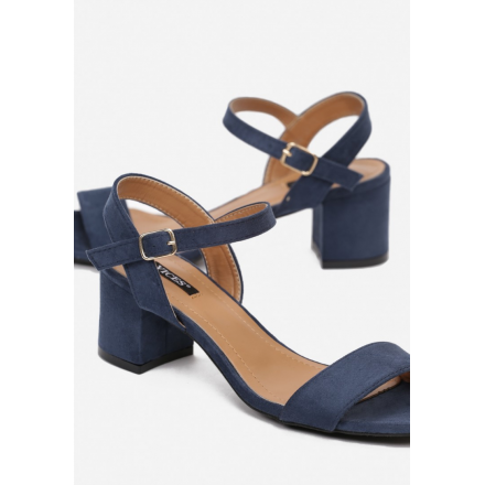 Dark blue women's sandals 3365-93-d.blue