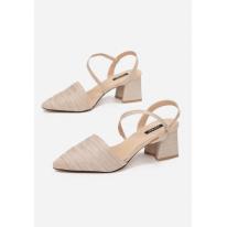 Beżowe Sandałki Damskie 3372-42-beige