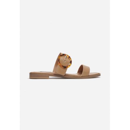 Beżowe Klapki Damskie 3360-42-beige