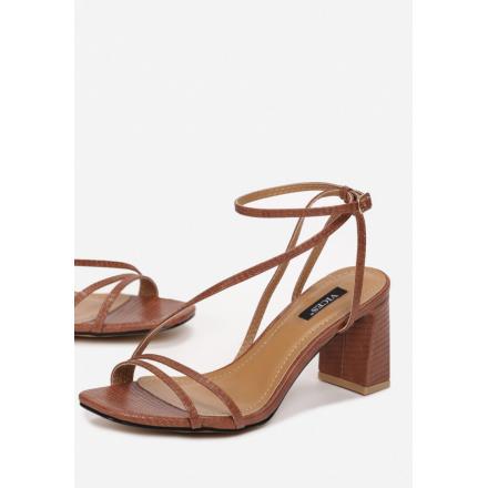 Brązowe Sandałki Damskie 3378-54-brown