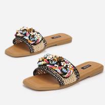 Black Women's slippers 7360-38-black