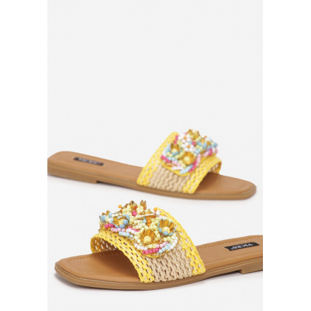 Yellow women's slippers 7360-49-yellow